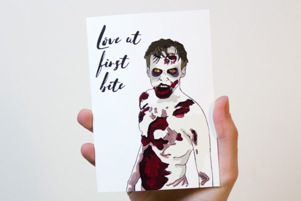 The Walking Dead Valentines Day Card