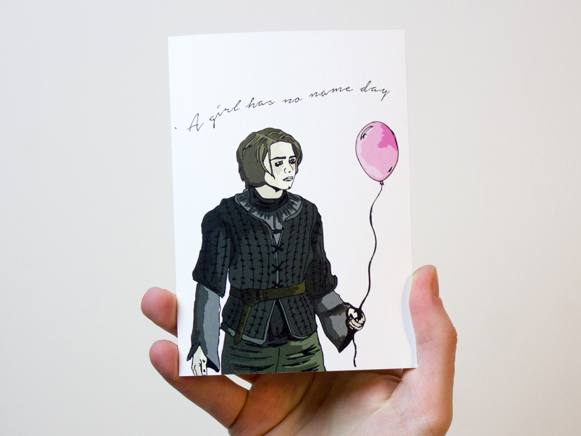 Hand Drawn Game of Thrones Birthday Card by Freckle and Specs