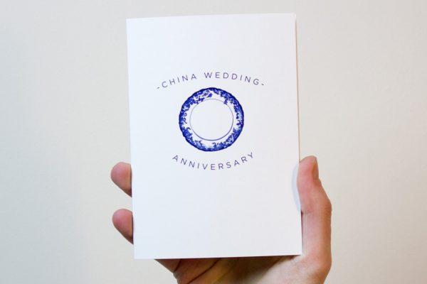 China Wedding Anniversary Card