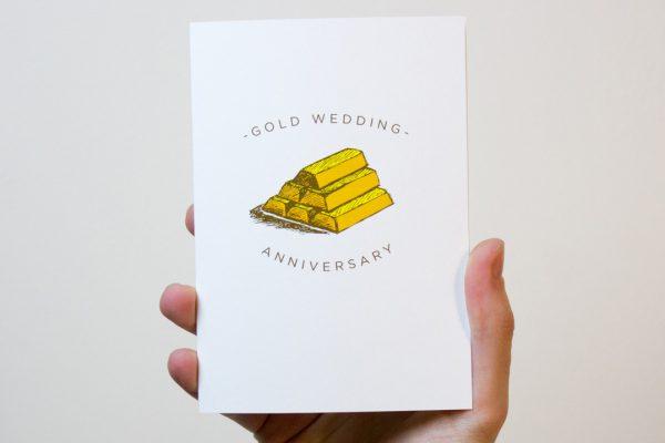 Gold Wedding Anniversary Card
