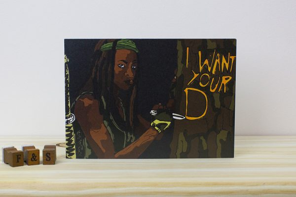 The Walking Dead Michonne Valentines Day Card