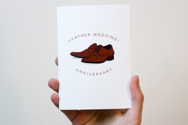 Leather Wedding Anniversary Card