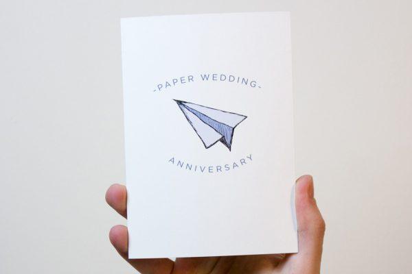 Paper Wedding Anniversary Card