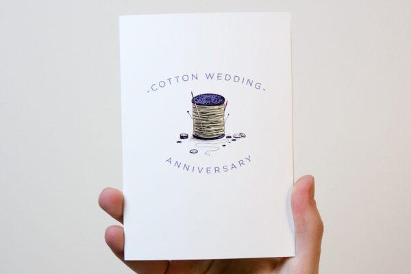 Cotton Wedding Anniversary Card