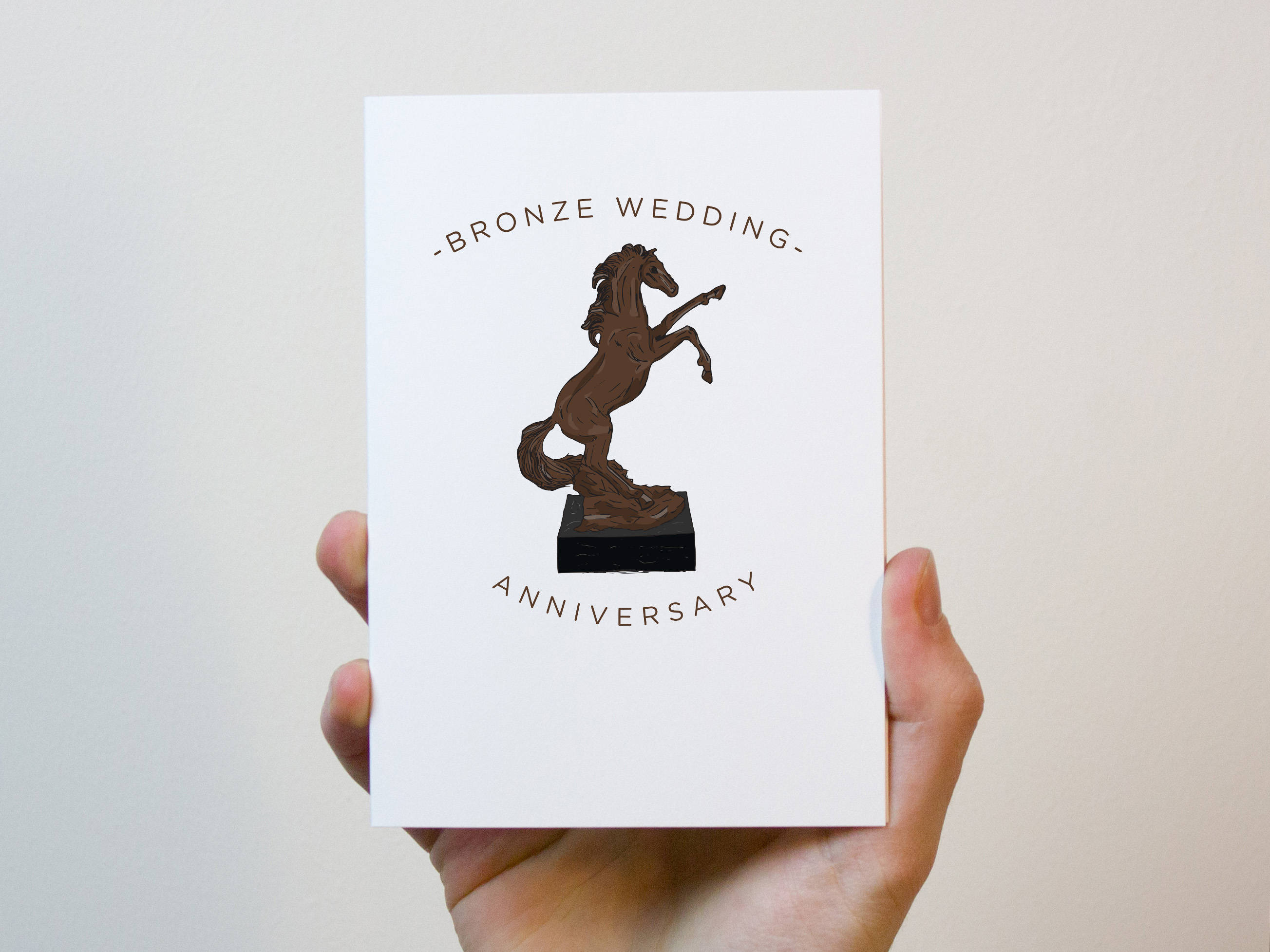 8th Wedding Anniversary.Bronze Wedding Anniversary Card 8 Year Wedding Anniversary Card 8th Wedding Anniversary Card