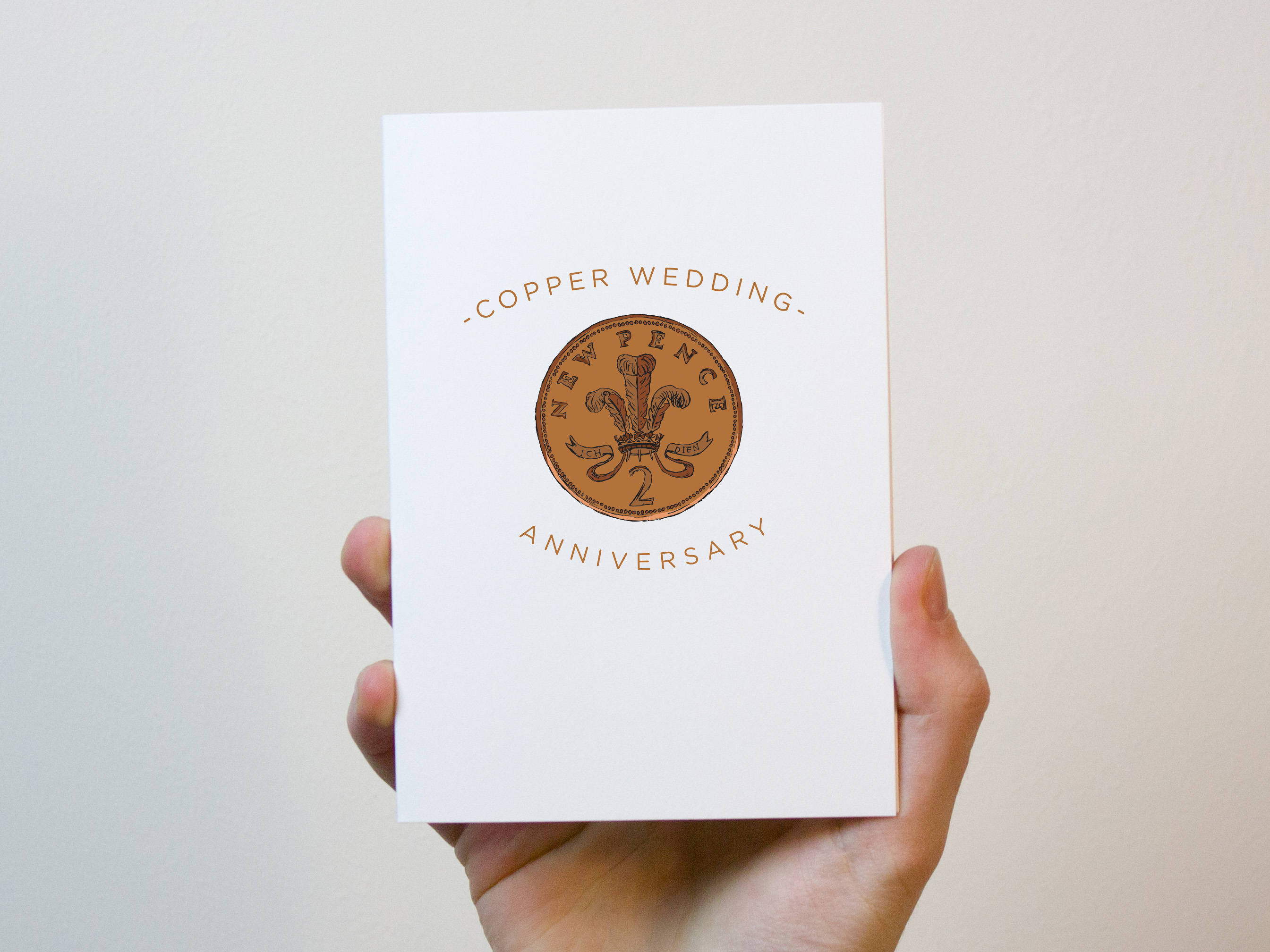 7th Wedding Anniversary.Copper Wedding Anniversary Card 7 Year Wedding Anniversary Card 7th Wedding Anniversary Card
