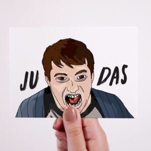 Peep Show Judas Card