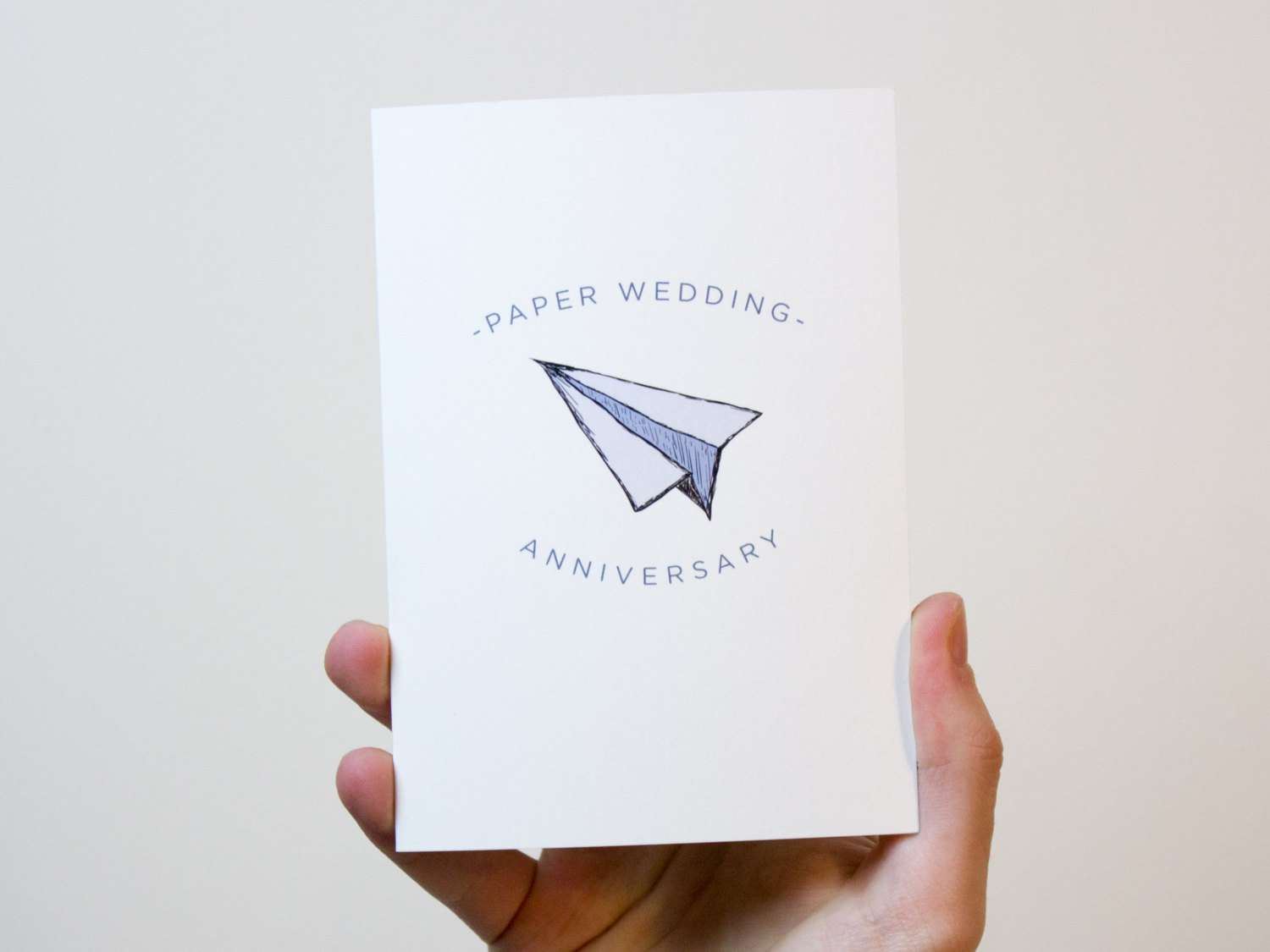 Paper Wedding Anniversary Card 1 Year Wedding Anniversary Card