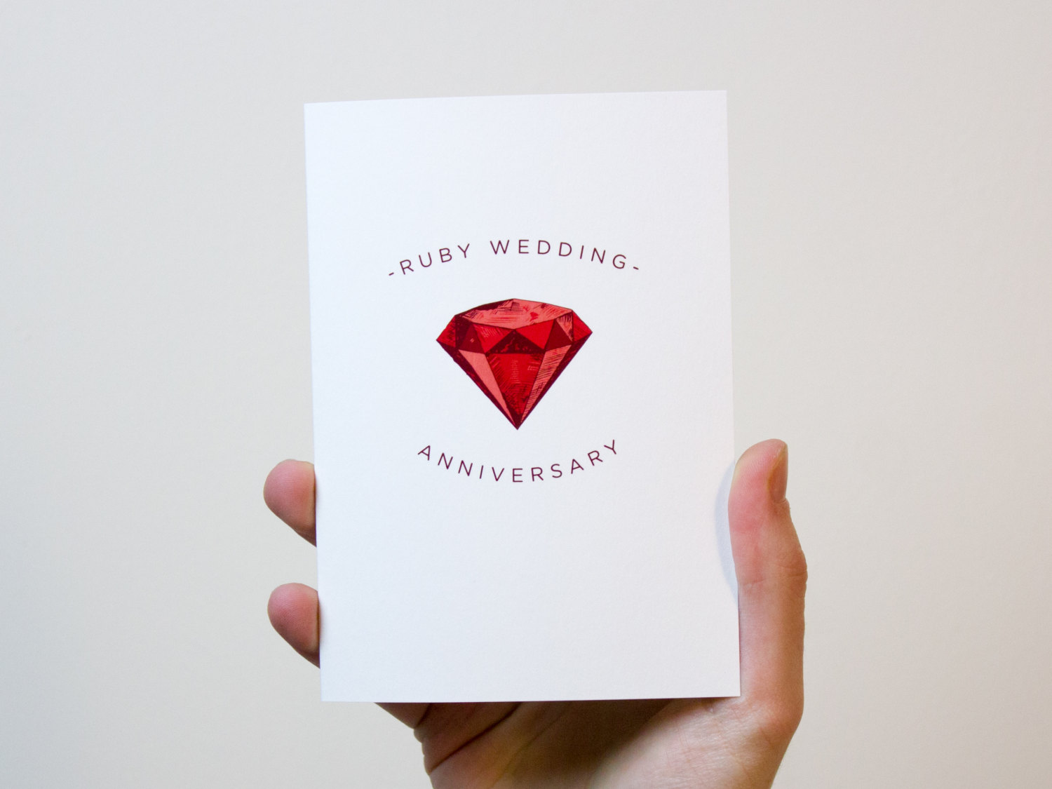 Unusual Ruby Wedding Gifts: Ruby Wedding Anniversary Card