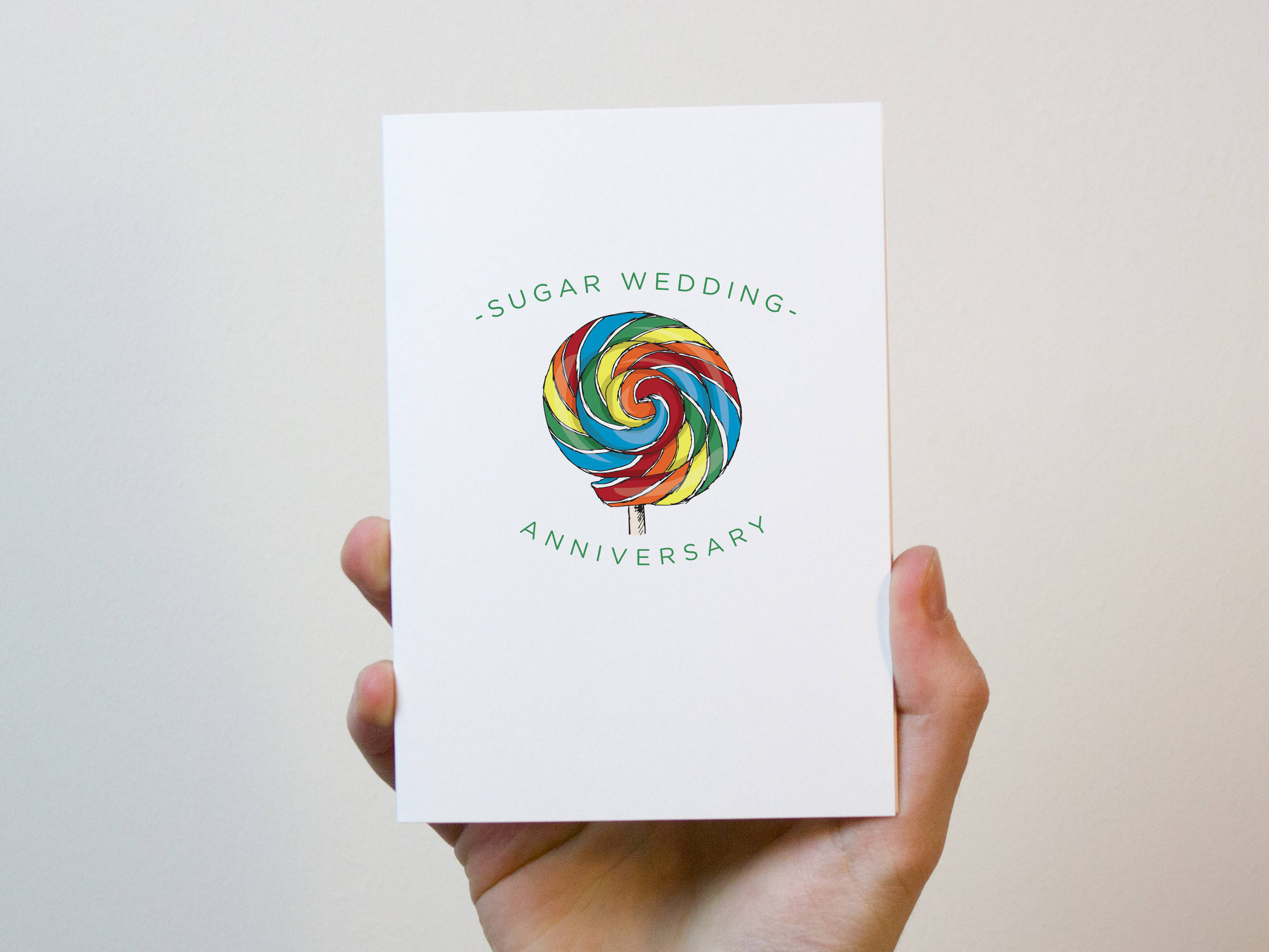 Wedding Anniversary Gifts 6 Years: Sugar Wedding Anniversary Card