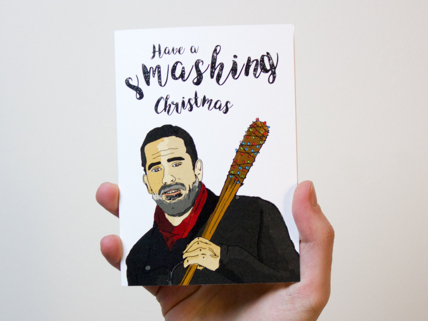 Have a Smashing Christmas Card | Negan from The Walking Dead