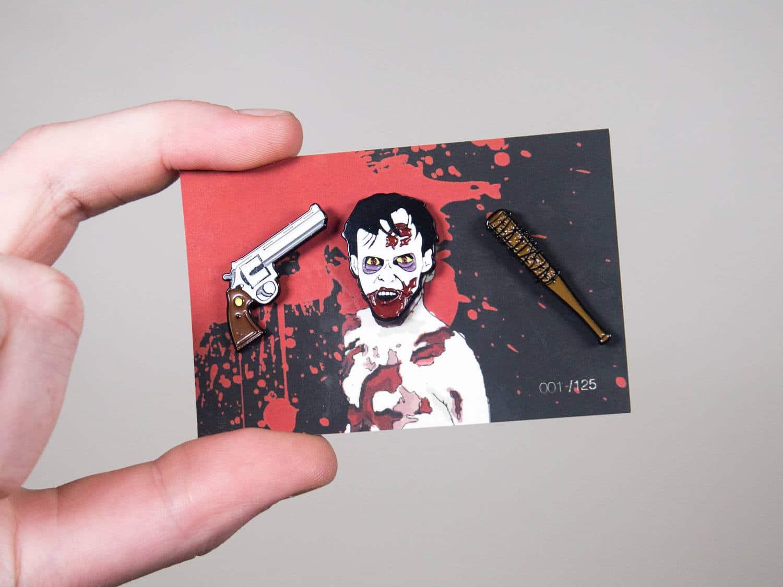 Walking Dead Themed Pins | Walking Dead Themed Badges | Zombie Pin | Rick  Vs Negan Pins | Gun Pin | Pistol Pin | Revolver Pin | Lucille Pin