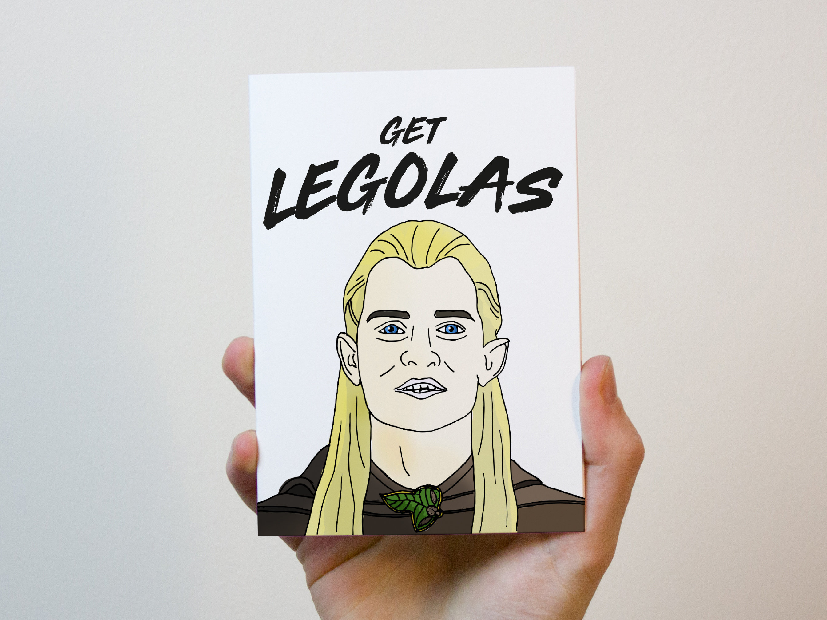 Get Legolas Its Your Birthday Lord of the Rings Birthday Card
