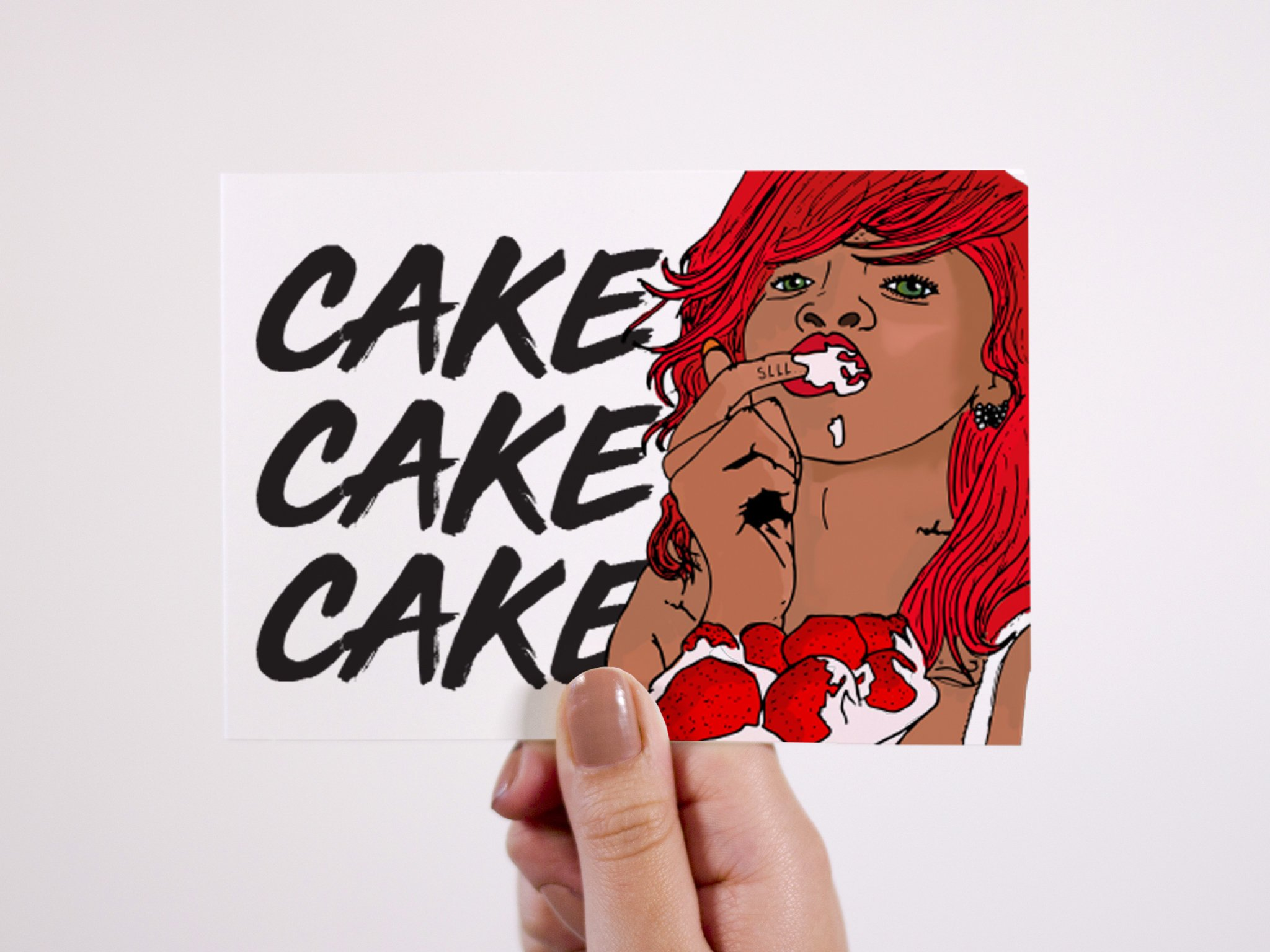 Rihanna Birthday Cake Card